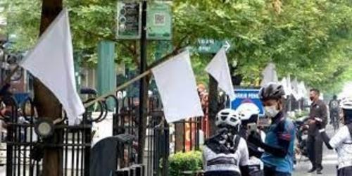 white flag in malioboro